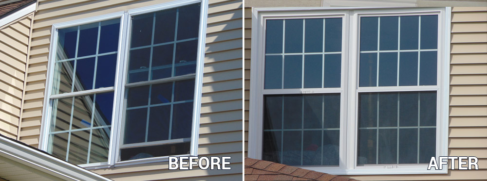 Window Replacement - Before and After