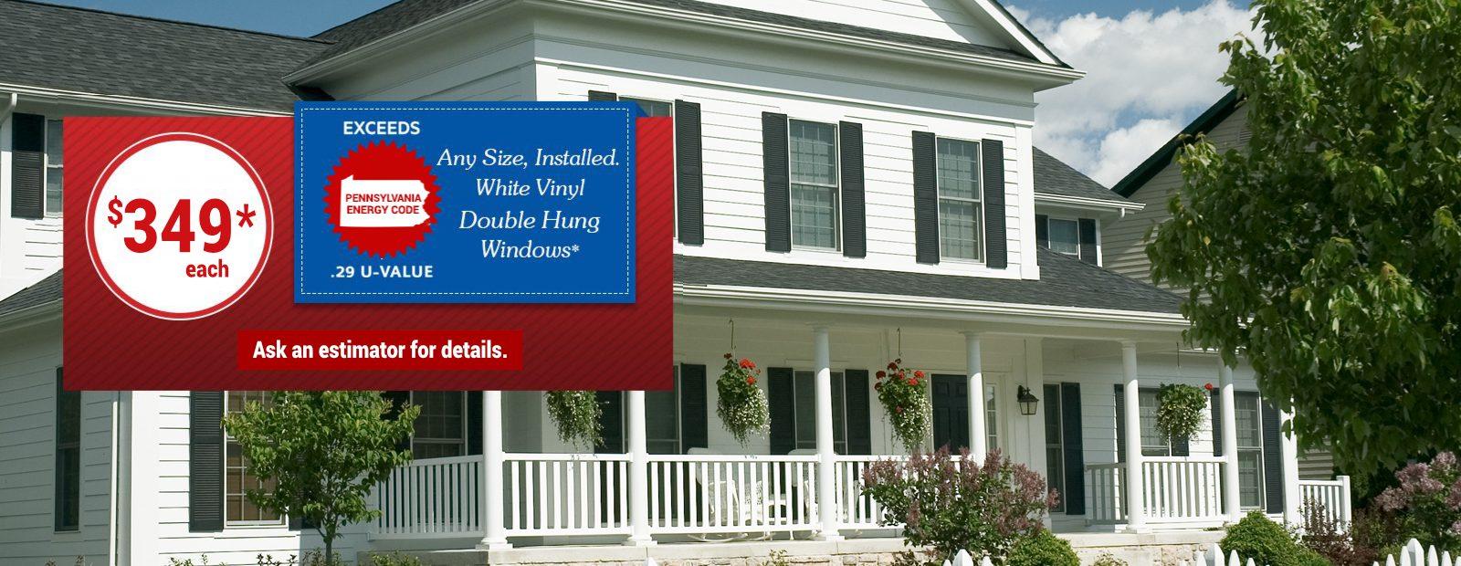 White Vinyl Double Hung Windows